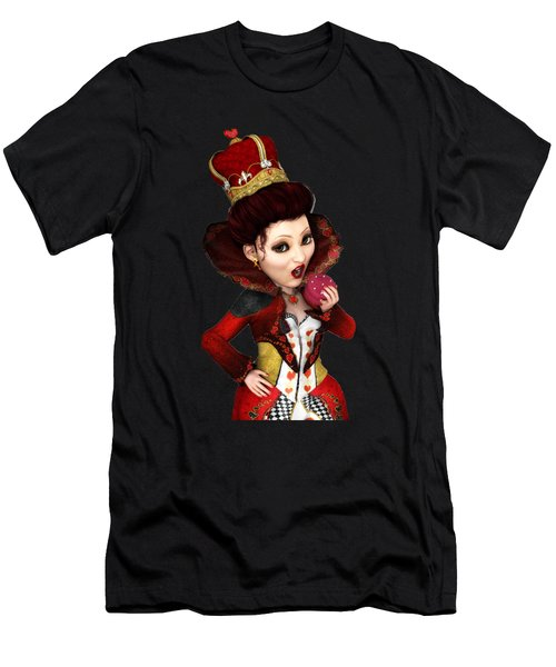Queen Of Hearts Portrait Men's T-Shirt (Slim Fit) by Methune Hively