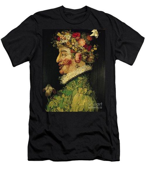 Spring Men's T-Shirt (Slim Fit) by Giuseppe Arcimboldo