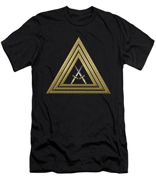 15th Degree Mason - Knight Of The East Masonic Jewel  Men's T-Shirt (Slim Fit) by Serge Averbukh