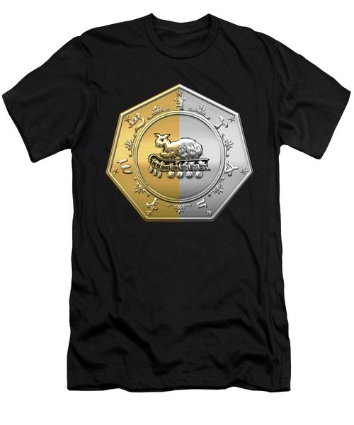 17th Degree Mason - Knight Of The East And West Masonic Jewel  Men's T-Shirt (Slim Fit) by Serge Averbukh