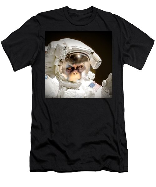 1st Into Space  Men's T-Shirt (Slim Fit) by Scott French