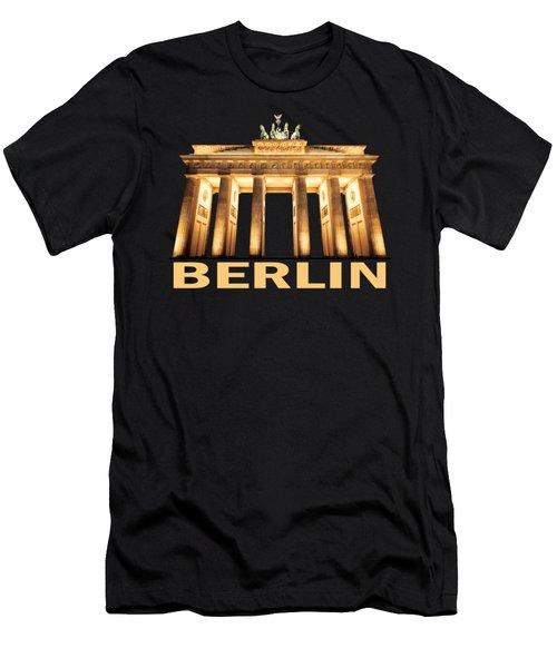 Brandenburg Gate Men's T-Shirt (Slim Fit) by Julie Woodhouse