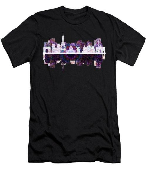 Paris France Fantasy Skyline Men's T-Shirt (Slim Fit) by John Groves