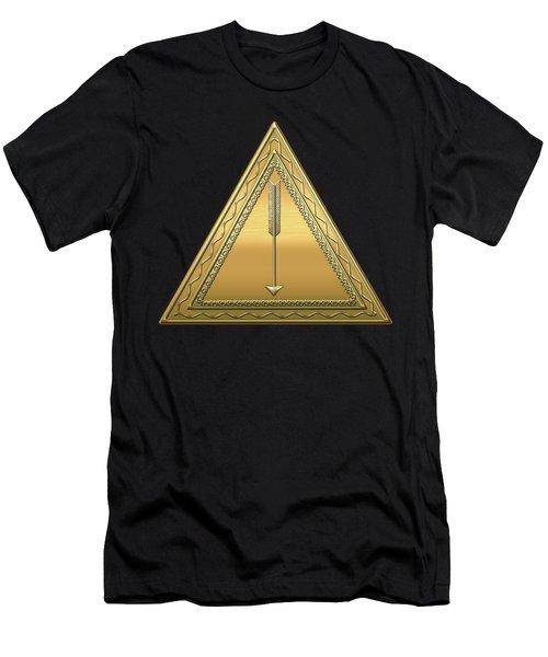 21st Degree Mason - Noachite Or Prussian Knight Masonic  Men's T-Shirt (Slim Fit) by Serge Averbukh