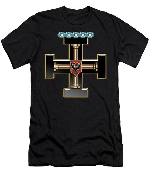 27th Degree Mason - Knight Of The Sun Or Prince Adept Masonic Jewel  Men's T-Shirt (Slim Fit) by Serge Averbukh