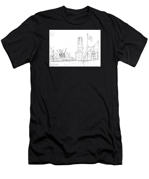 5.2.japan-1-tokyo-skyline Men's T-Shirt (Slim Fit) by Charlie Szoradi