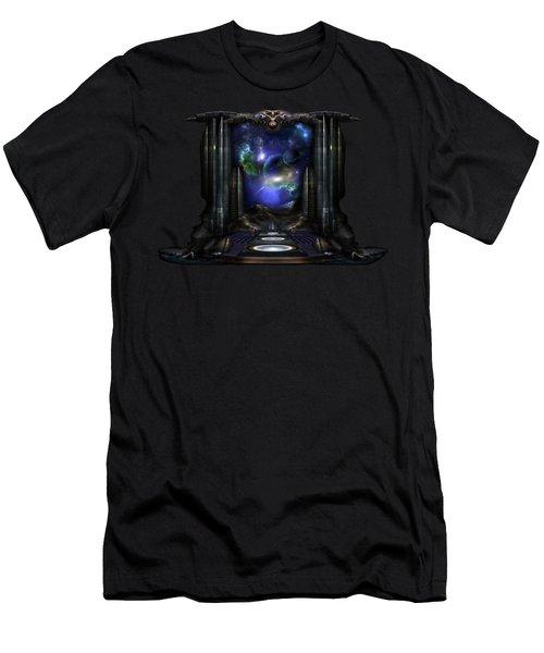 89-123-a9p2 Arsairian 7 Reporting Fractal Composition Men's T-Shirt (Slim Fit) by Xzendor7
