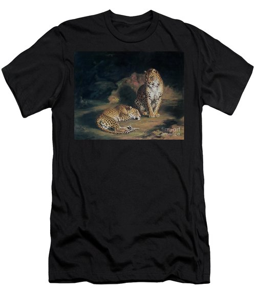 A Pair Of Leopards Men's T-Shirt (Slim Fit) by William Huggins