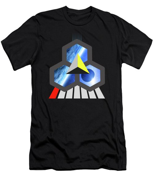 Abstract Space 1 Men's T-Shirt (Slim Fit) by Russell K