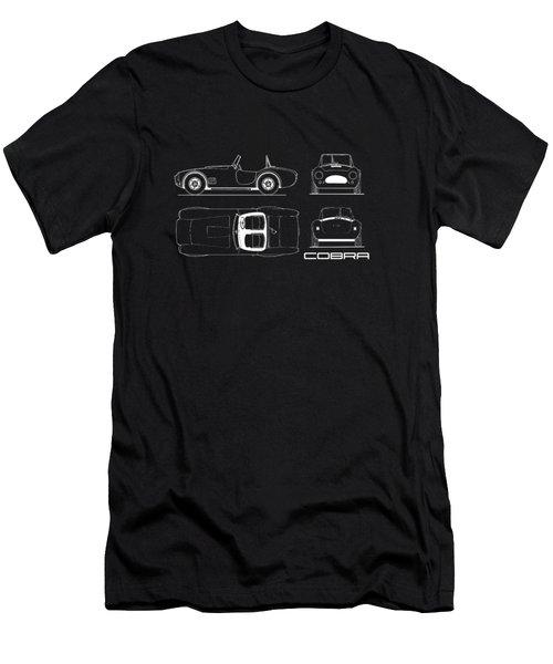 Ac Cobra Blueprint Men's T-Shirt (Slim Fit) by Mark Rogan