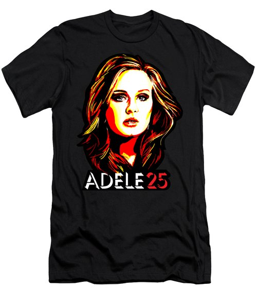 Adele 25-1 Men's T-Shirt (Slim Fit) by Tim Gilliland