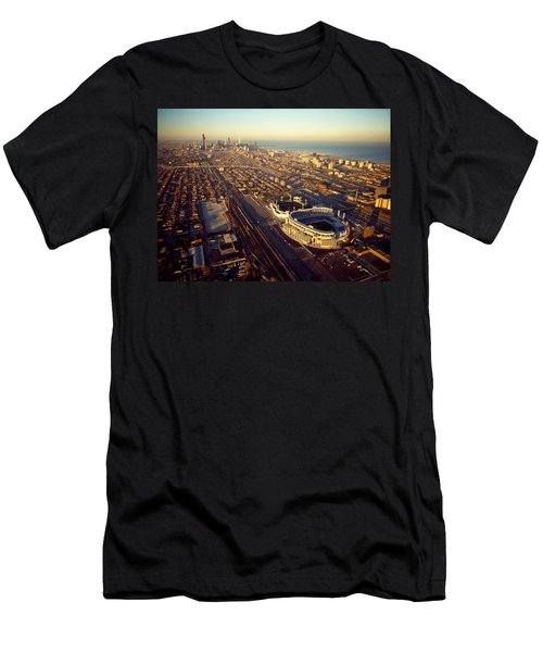 Aerial View Of A City, Old Comiskey Men's T-Shirt (Slim Fit) by Panoramic Images