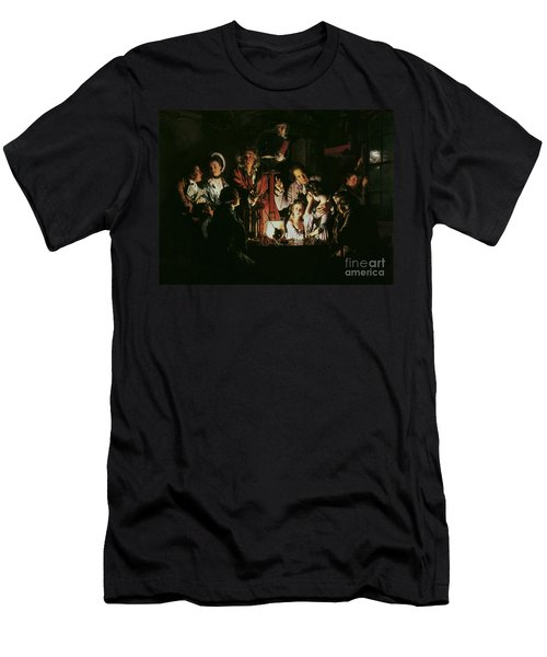 An Experiment On A Bird In The Air Pump Men's T-Shirt (Slim Fit) by Joseph Wright of Derby