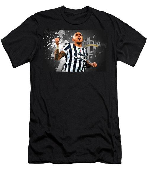 Arturo Vidal Men's T-Shirt (Slim Fit) by Semih Yurdabak