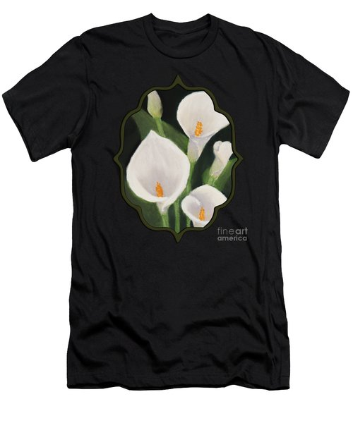 Calla Lilies Men's T-Shirt (Slim Fit) by Anastasiya Malakhova