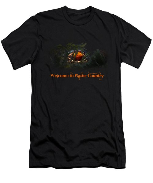 Welcome To Gator Country Men's T-Shirt (Slim Fit) by Mark Andrew Thomas