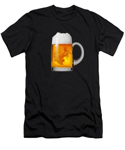 Glass Of Beer Men's T-Shirt (Slim Fit) by T Shirts R Us -