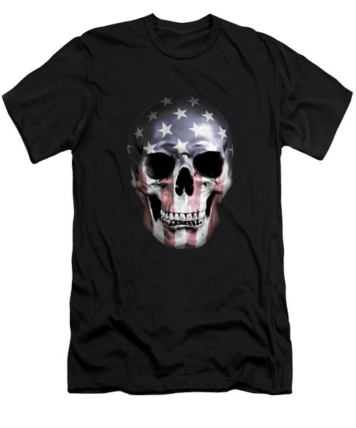 American Skull Men's T-Shirt (Slim Fit) by Nicklas Gustafsson
