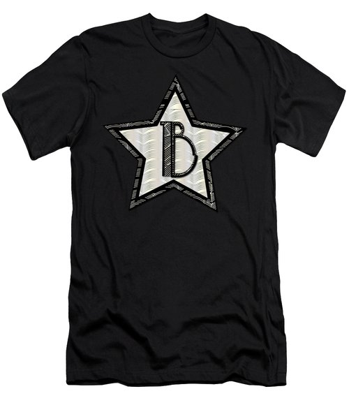Star Of The Show Art Deco Style Letter B Men's T-Shirt (Slim Fit) by Cecely Bloom