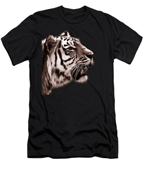 Siberian Tiger Profile Men's T-Shirt (Slim Fit) by Crystal Wightman