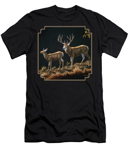 Mule Deer Ridge Men's T-Shirt (Slim Fit) by Crista Forest