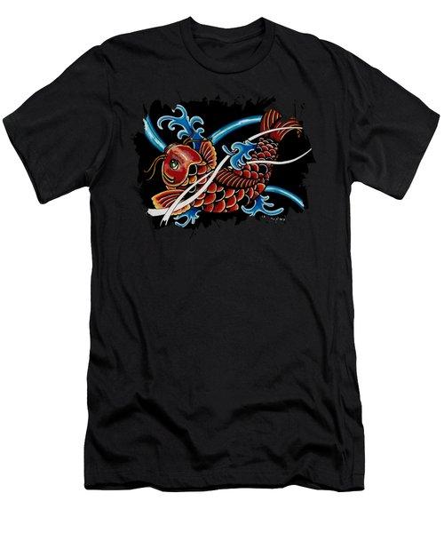 Asian Koi Men's T-Shirt (Slim Fit) by Maria Arango