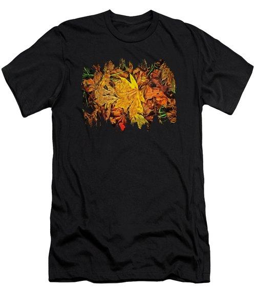 Autumn Leaves Of Beaver Creek Men's T-Shirt (Slim Fit) by Thom Zehrfeld