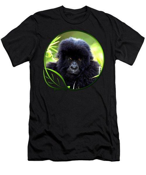 Baby Gorilla Men's T-Shirt (Slim Fit) by Dan Pagisun