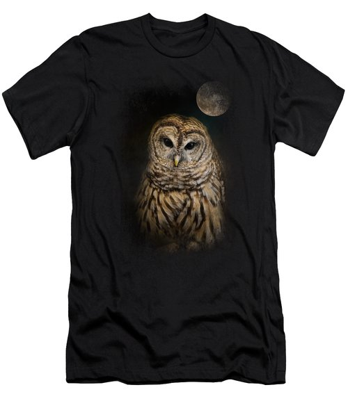 Barred Owl And The Moon Men's T-Shirt (Slim Fit) by Jai Johnson