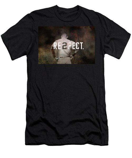 Baseball - Derek Jeter Men's T-Shirt (Slim Fit) by Joann Vitali