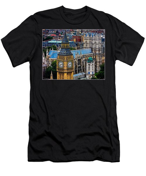 Big Ben And Westminster Abbey Men's T-Shirt (Slim Fit) by Chris Lord