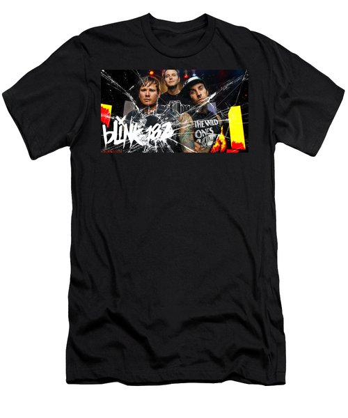 Blink 182 Collection Men's T-Shirt (Slim Fit) by Marvin Blaine