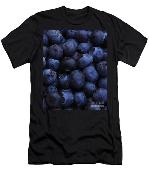 Blueberries Close-up - Vertical Men's T-Shirt (Slim Fit) by Carol Groenen
