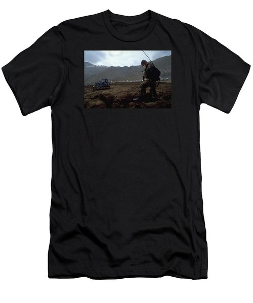 Men's T-Shirt (Slim Fit) featuring the photograph Boots On The Ground by Travel Pics