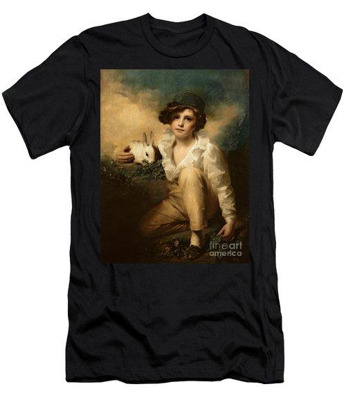 Boy And Rabbit Men's T-Shirt (Slim Fit) by Sir Henry Raeburn