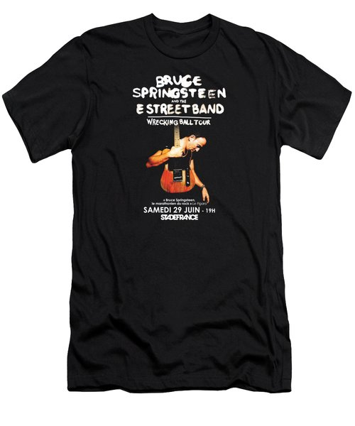 Bruce Springsteen Tour 2016 Men's T-Shirt (Slim Fit) by Gandi Rismawan