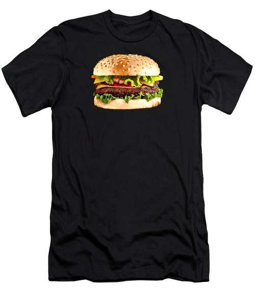Burger Sndwich Hamburger Men's T-Shirt (Slim Fit) by T Shirts R Us -