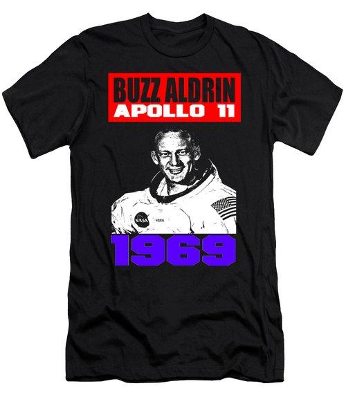 Buzz Aldrin Men's T-Shirt (Slim Fit) by Otis Porritt