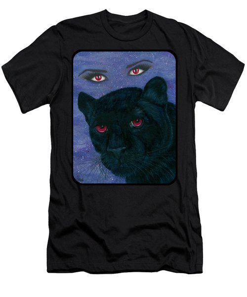 Carmilla - Black Panther Vampire Men's T-Shirt (Slim Fit) by Carrie Hawks