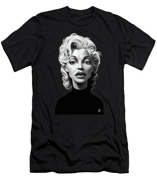 Celebrity Sunday - Marilyn Monroe Men's T-Shirt (Slim Fit) by Rob Snow