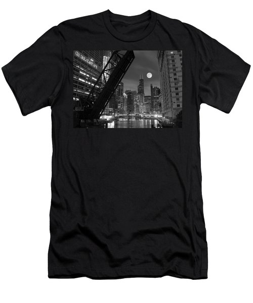 Chicago Pride Of Illinois Men's T-Shirt (Slim Fit) by Frozen in Time Fine Art Photography