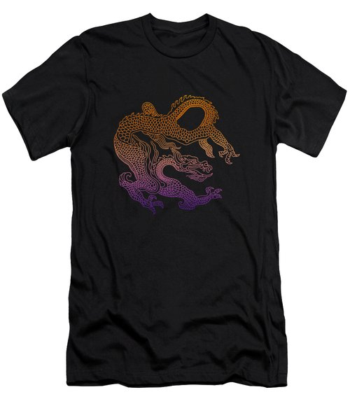 Chinese Dragon Men's T-Shirt (Slim Fit) by Illustratorial Pulse
