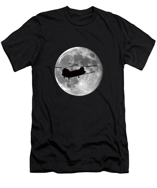 Chinook Moon .png Men's T-Shirt (Slim Fit) by Al Powell Photography USA