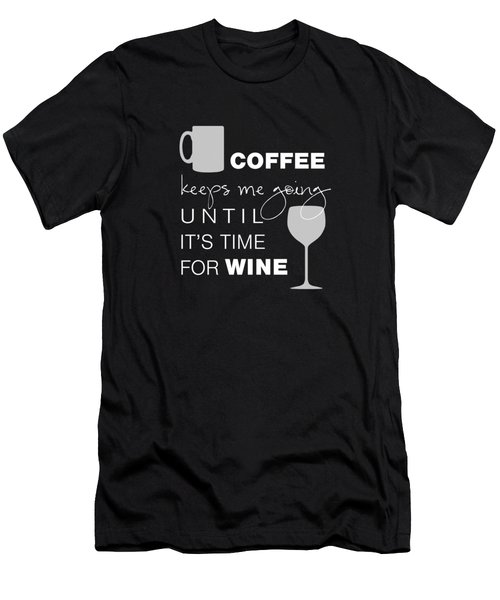 Coffee And Wine Men's T-Shirt (Slim Fit) by Nancy Ingersoll
