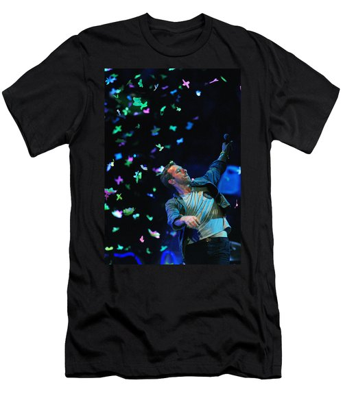 Coldplay1 Men's T-Shirt (Slim Fit) by Rafa Rivas