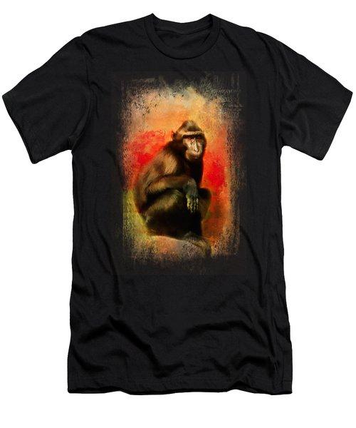 Colorful Expressions Black Monkey Men's T-Shirt (Slim Fit) by Jai Johnson
