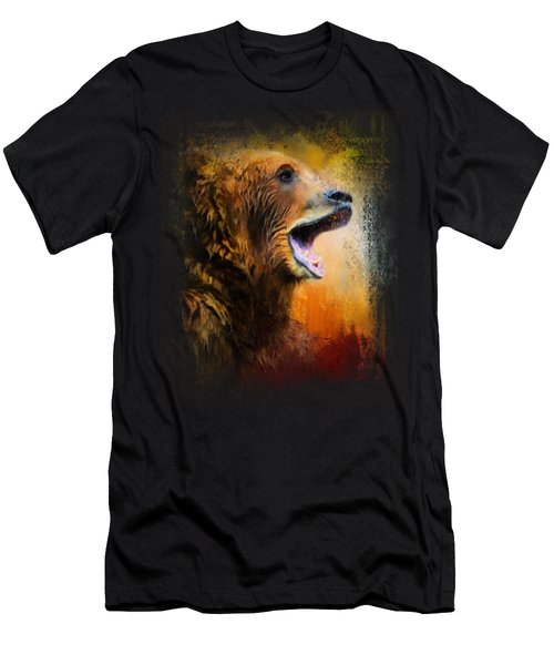 Colorful Expressions Grizzly Bear 2 Men's T-Shirt (Slim Fit) by Jai Johnson