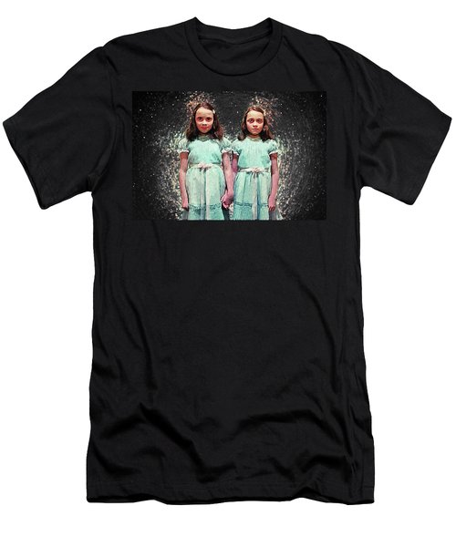 Come Play With Us - The Shining Twins Men's T-Shirt (Slim Fit) by Taylan Apukovska