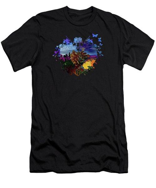 Dahlia Field Men's T-Shirt (Slim Fit) by Thom Zehrfeld