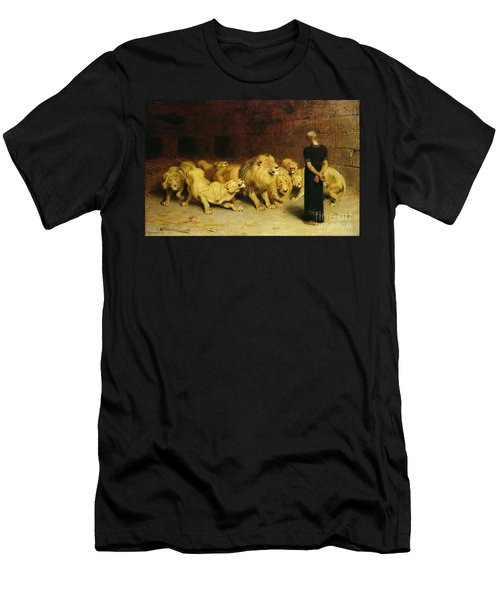 Daniel In The Lions Den Men's T-Shirt (Slim Fit) by Briton Riviere